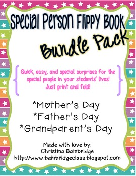 Special People Flippy Book Bundle- Mother's Day, Father's Day, Grandparent's Day