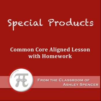 Special Products (Lesson Plan with Homework)