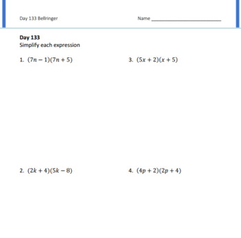Special Products Lesson Plan A.APR.A.1