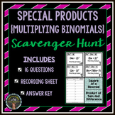 Special Products: Multiplying Binomials Scavenger Hunt