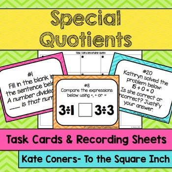 Special Quotients Task Cards