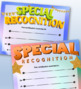 Special Recognition Certificates