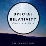 Special Relativity Editable Physics Unit (Unit Plan, Daily