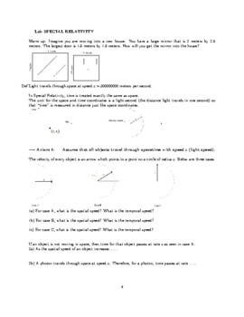 Special Relativity Lab -- Application of Right Triangle Trig