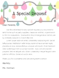 Special Request Letter Template