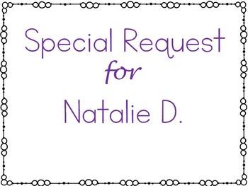 Special Request: Natalie D.