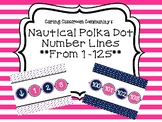Special Request Nautical Number Line 1-100 and 1-125 with extra anchor