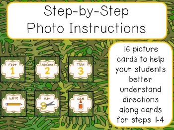 Special Request: Step by Step Picture Directions - Jungle Theme