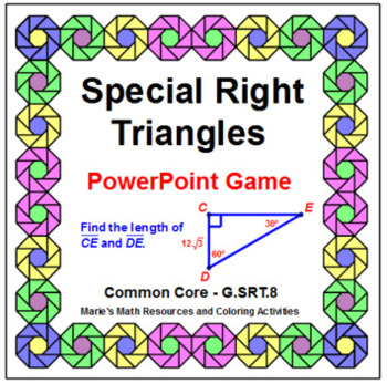 SPECIAL RIGHT TRIANGLES:  ACTIVITY BUNDLE