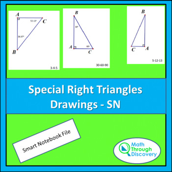 Geometry:  Special Right Triangle Drawings