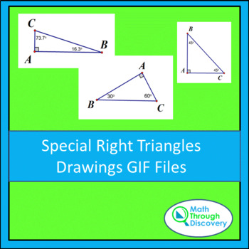 Special Right Triangle Drawings GIF Files