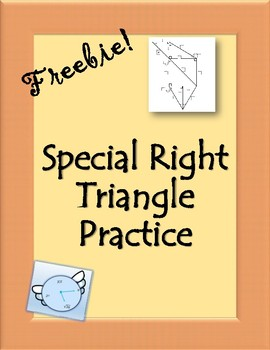 Special Right Triangle Freebie