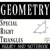 Special Right Triangle Inquiry and  Interactive Notebook f
