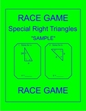 Special Right Triangles - RELAY RACE GAME Sample (1 page)