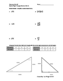 Special Right Triangle Review (Part I)
