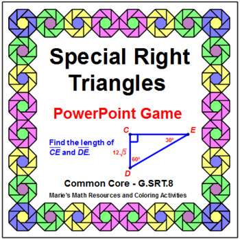 SPECIAL RIGHT TRIANGLES:  POWERPOINT GAME WIPE OUT OR REVIEW