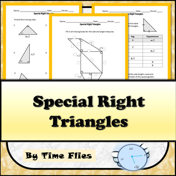 Special Right Triangles Lesson Worksheets Teaching