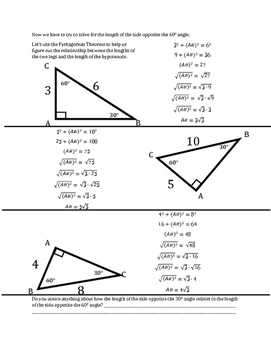 Special Right Triangles: 30-60-90