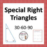 Special Right Triangles: 30-60-90 Practice Worksheet