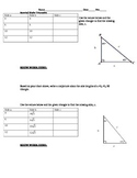 Special Right Triangles Activity