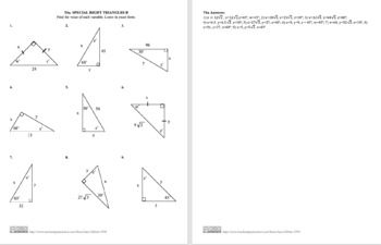 Special Right Triangles B