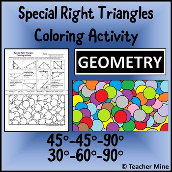 Special Right Triangles Coloring Activity