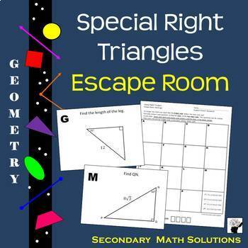 Special Triangles 45 45 90 30 60 90 Worksheets Teaching