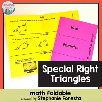 Special Right Triangles Foldable