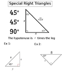 Special Right Triangles INB
