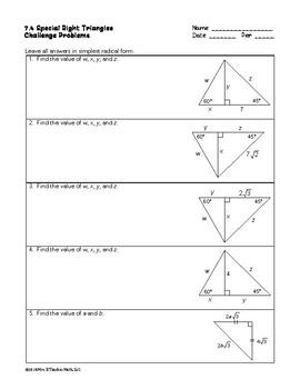 Special Right Triangles Lesson
