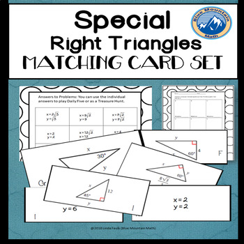 Special Right Triangles Matching Card Set