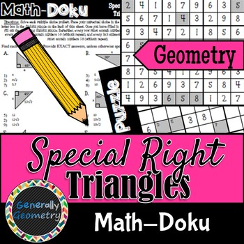 Special Right Triangles Math-Doku; Geometry, Sudoku