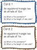 Special Right Triangles - Notes and Task Cards