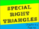 Special Right Triangles PowerPoint (30-60-90 and 45-45-90)