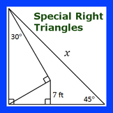 Multi-Step Special Right Triangles Practice I