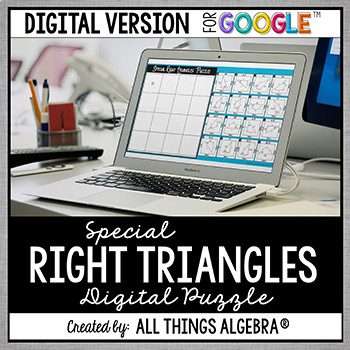 Special Right Triangles Puzzle - GOOGLE SLIDES VERSION