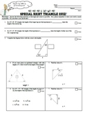 Special Right Triangles Quiz