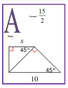 Special Right Triangles Scavenger Hunt