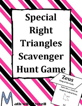 Special Right Triangles Scavenger Hunt Game