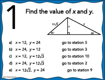 how to find special right triangles