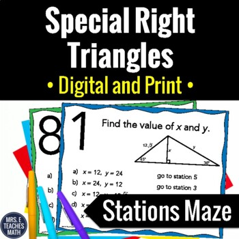 Special Right Triangles Stations Maze Activity