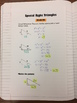 Special Right Triangles - Student Notes