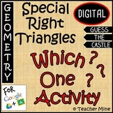 Special Right Triangles - Which One? Digital Activity