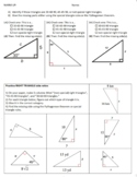 Special Right Triangles and Pythagorean Sort and Practice