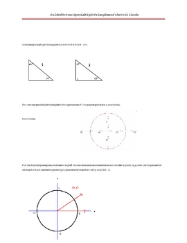 Special Right Triangles and the Unit Circle Guided Notes