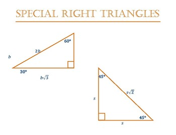 Special Right Triangles placard