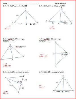 Special Segments and Constructions (WS)