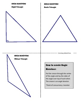 Special Segments in Triangles (Bisectors, Medians & Altitudes)