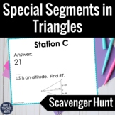Segments in Triangles Scavenger Hunt