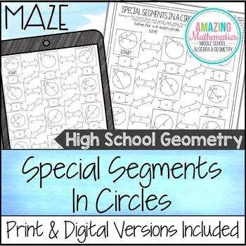 Special Segments in a Circle Maze